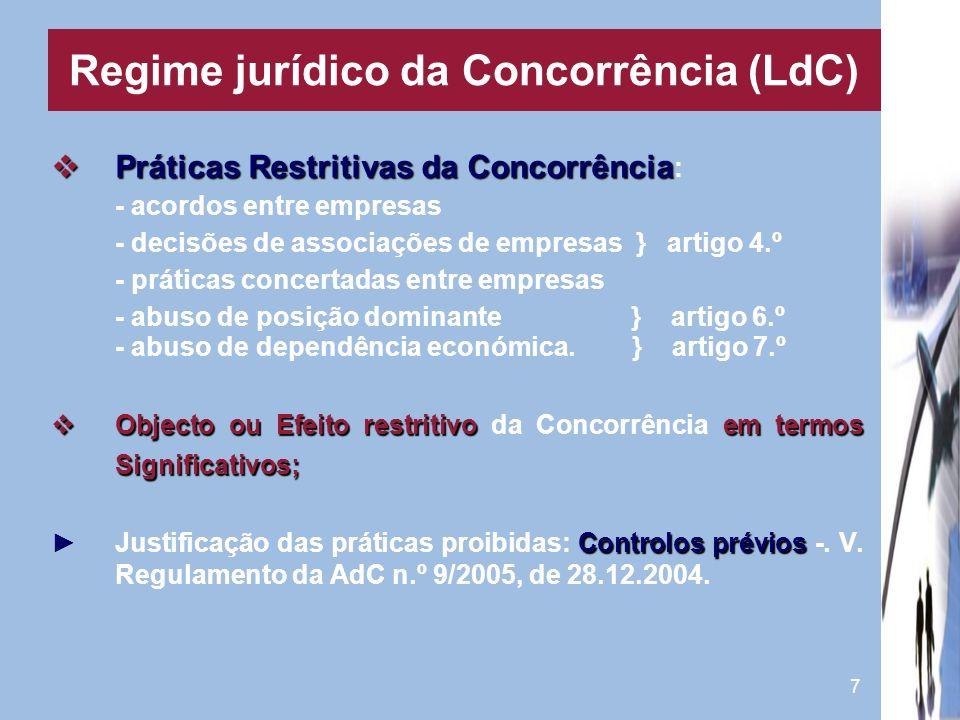 Regime jurídico da Concorrência (LdC)