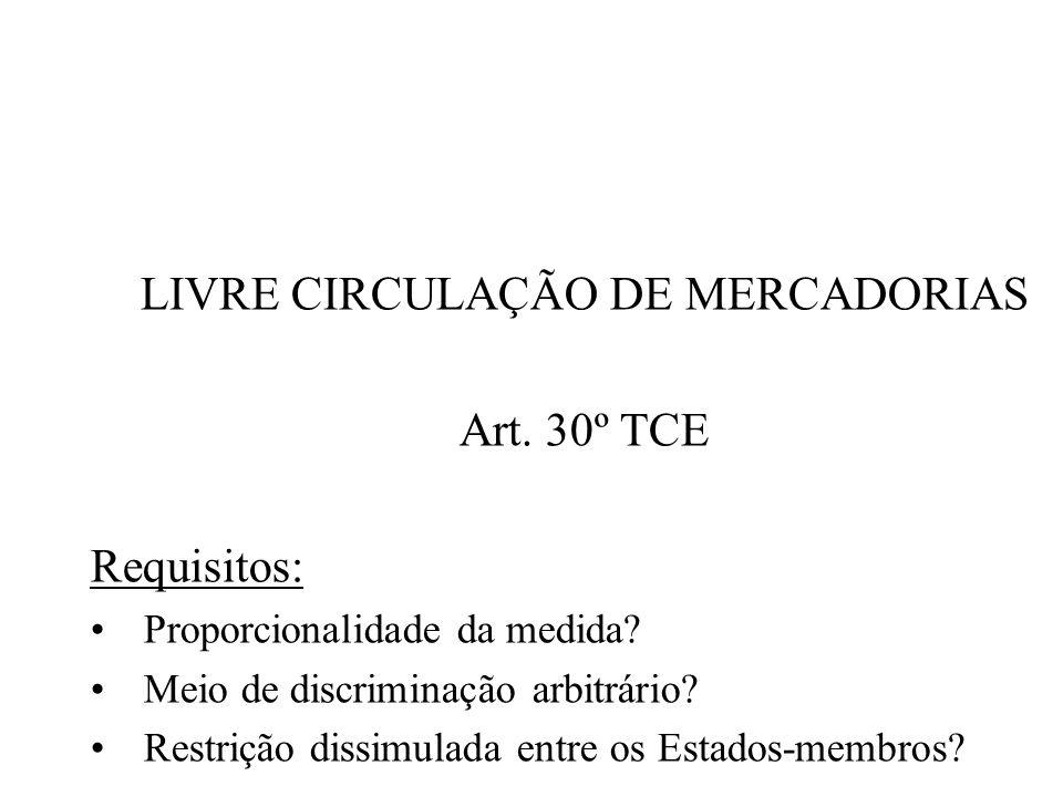 LIVRE CIRCULAÇÃO DE MERCADORIAS