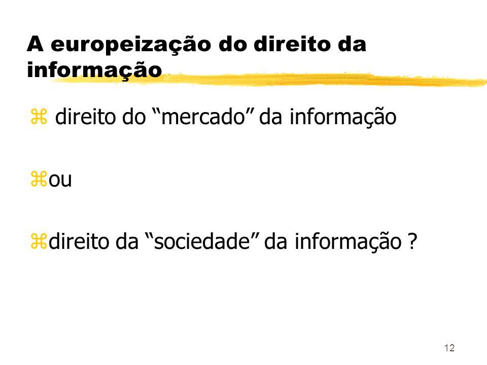 A europeização do direito da informação