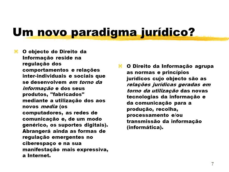 Um novo paradigma jurídico