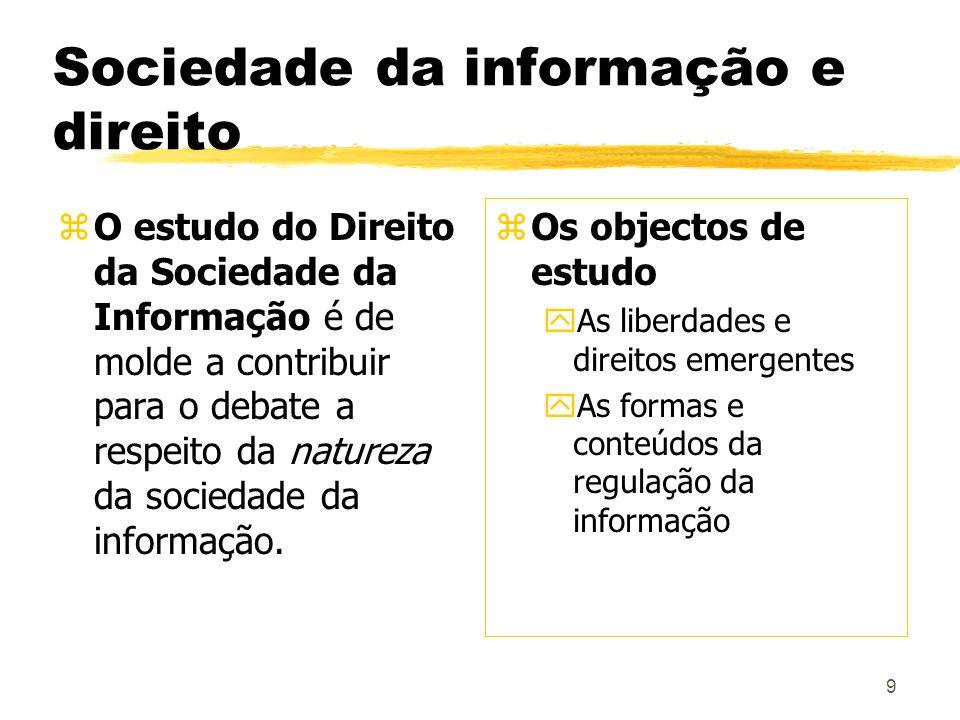 Sociedade da informação e direito
