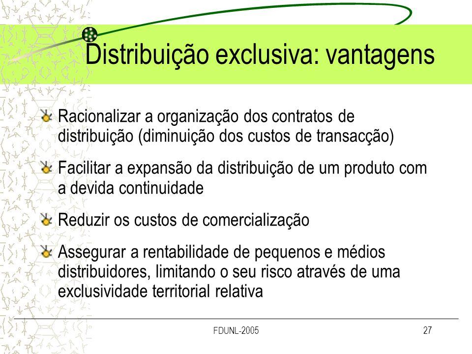 Distribuição exclusiva: vantagens