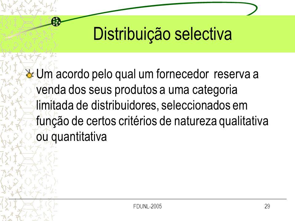 Distribuição selectiva