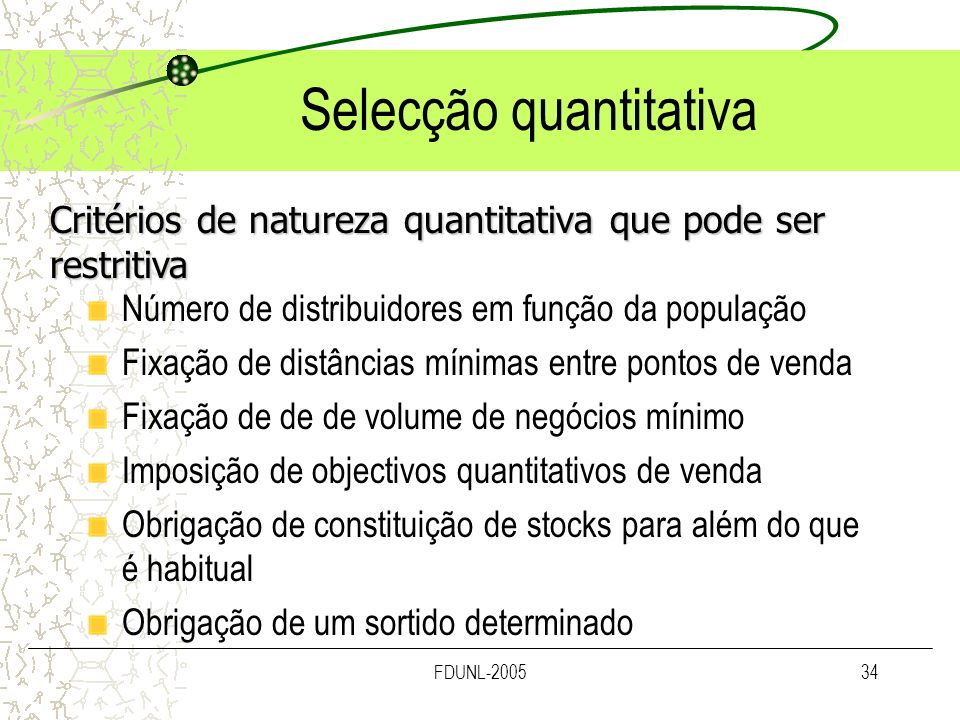 Selecção quantitativa