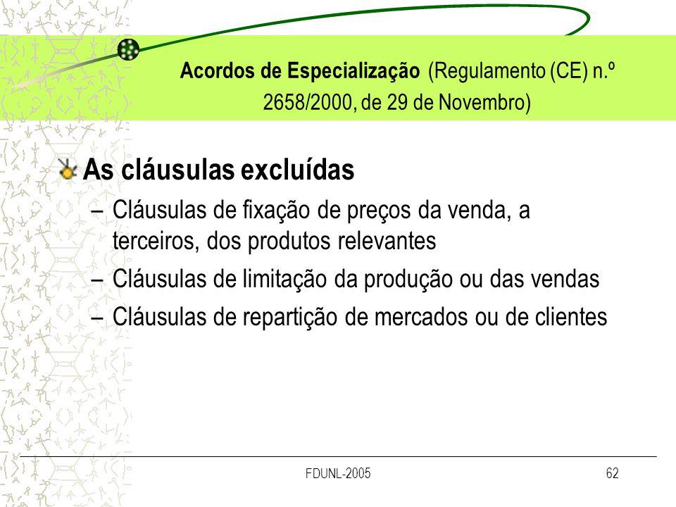 As cláusulas excluídas