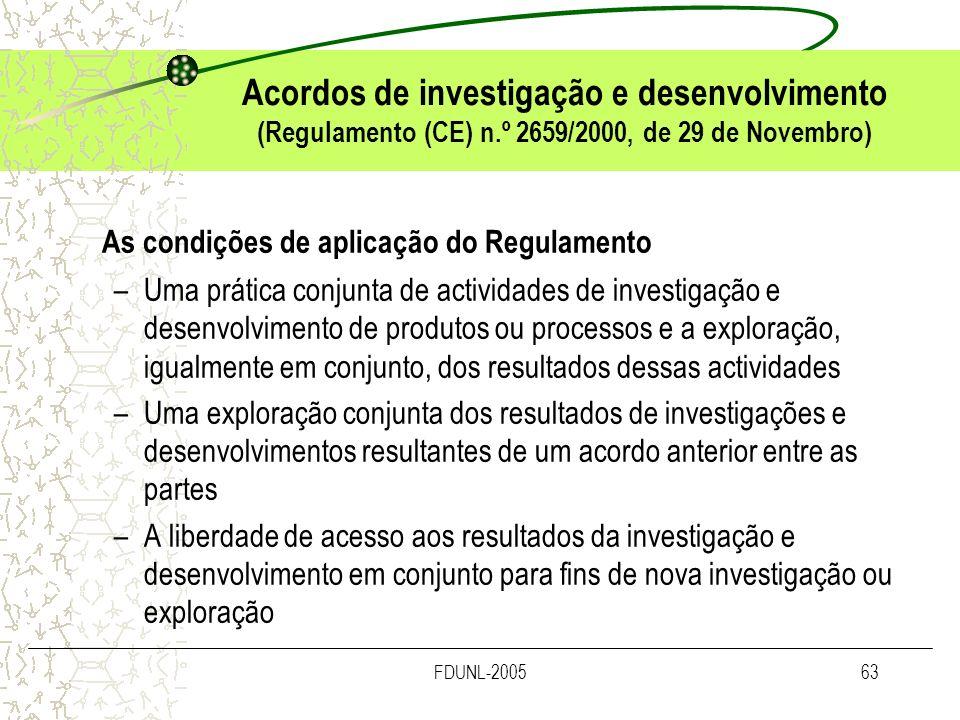 As condições de aplicação do Regulamento