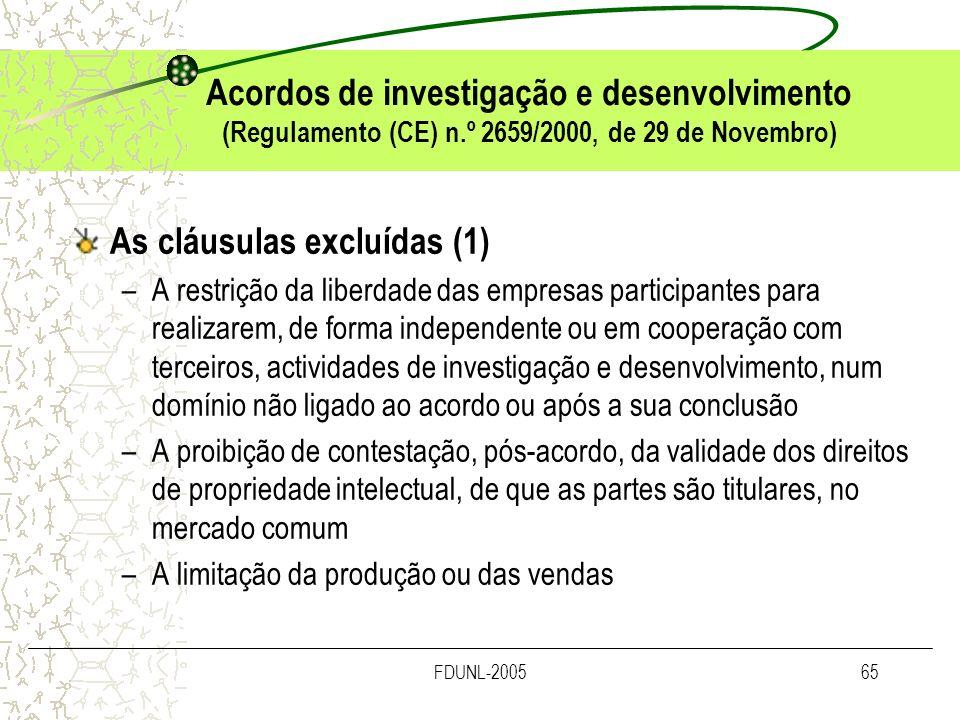 As cláusulas excluídas (1)