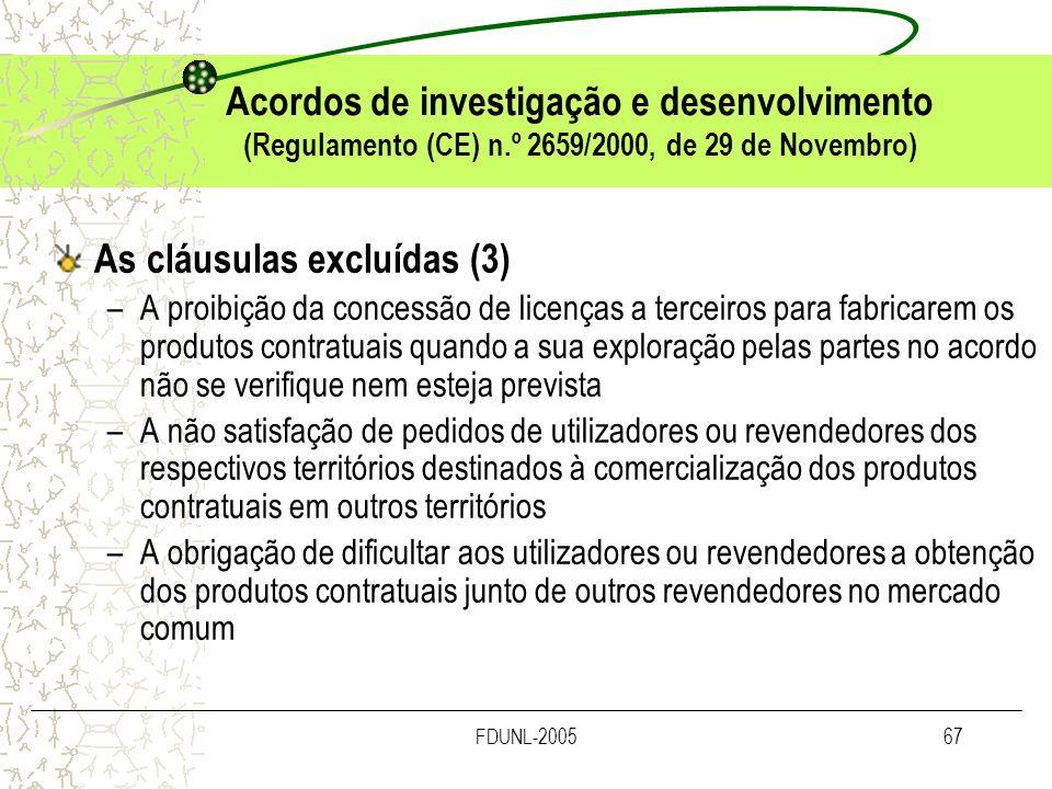 As cláusulas excluídas (3)