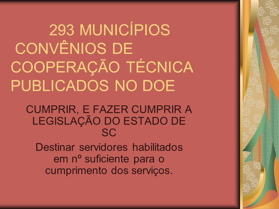 293 MUNICÍPIOS CONVÊNIOS DE COOPERAÇÃO TÉCNICA PUBLICADOS NO DOE