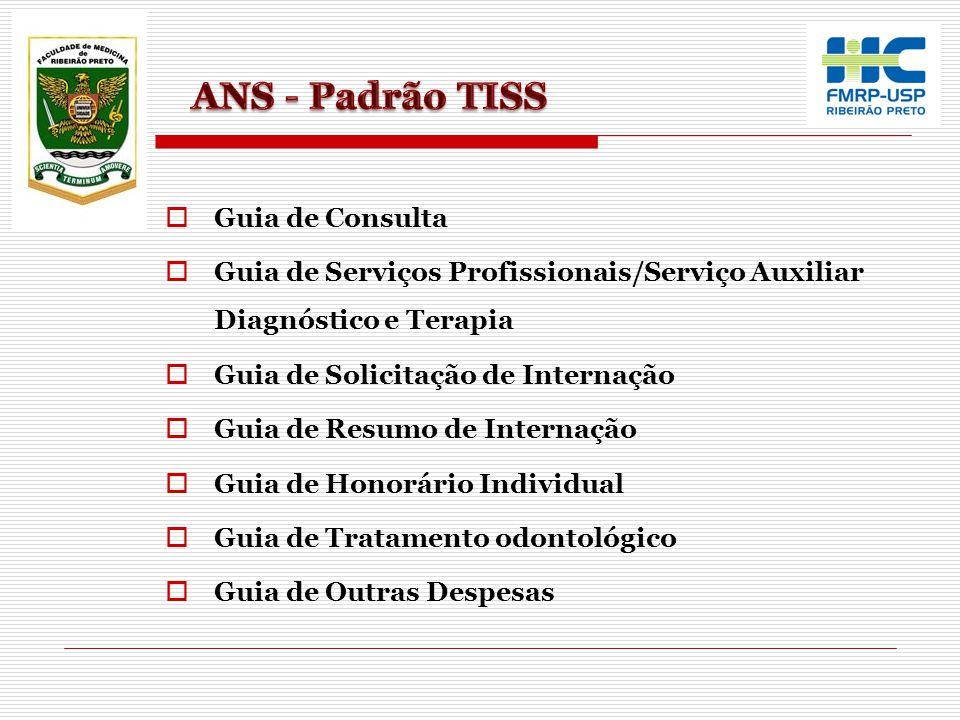 ANS - Padrão TISS Guia de Consulta