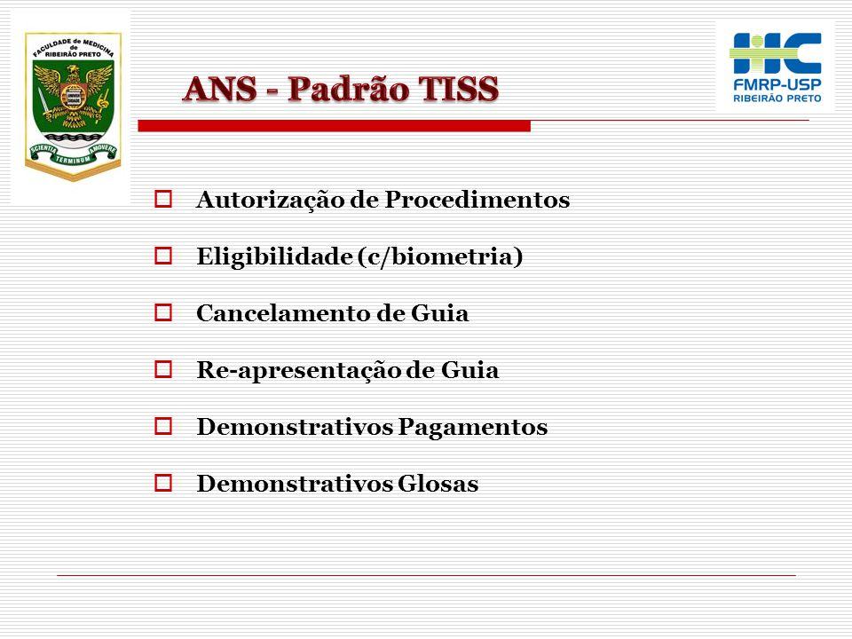 ANS - Padrão TISS Autorização de Procedimentos
