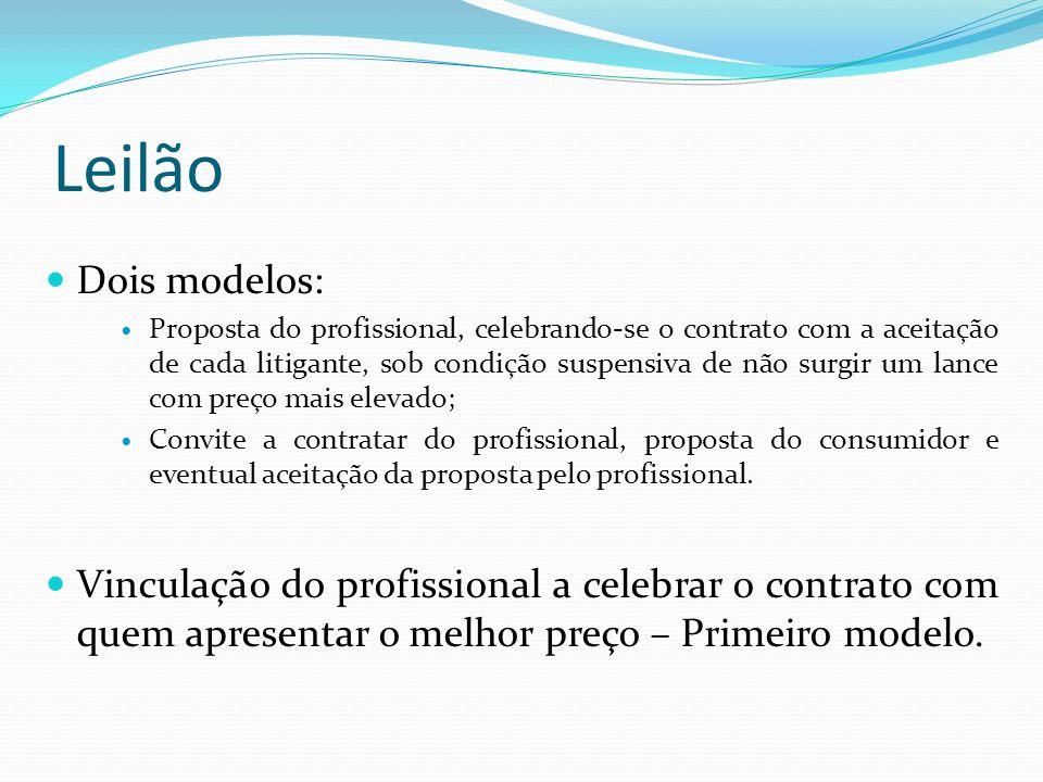 Leilão Dois modelos: