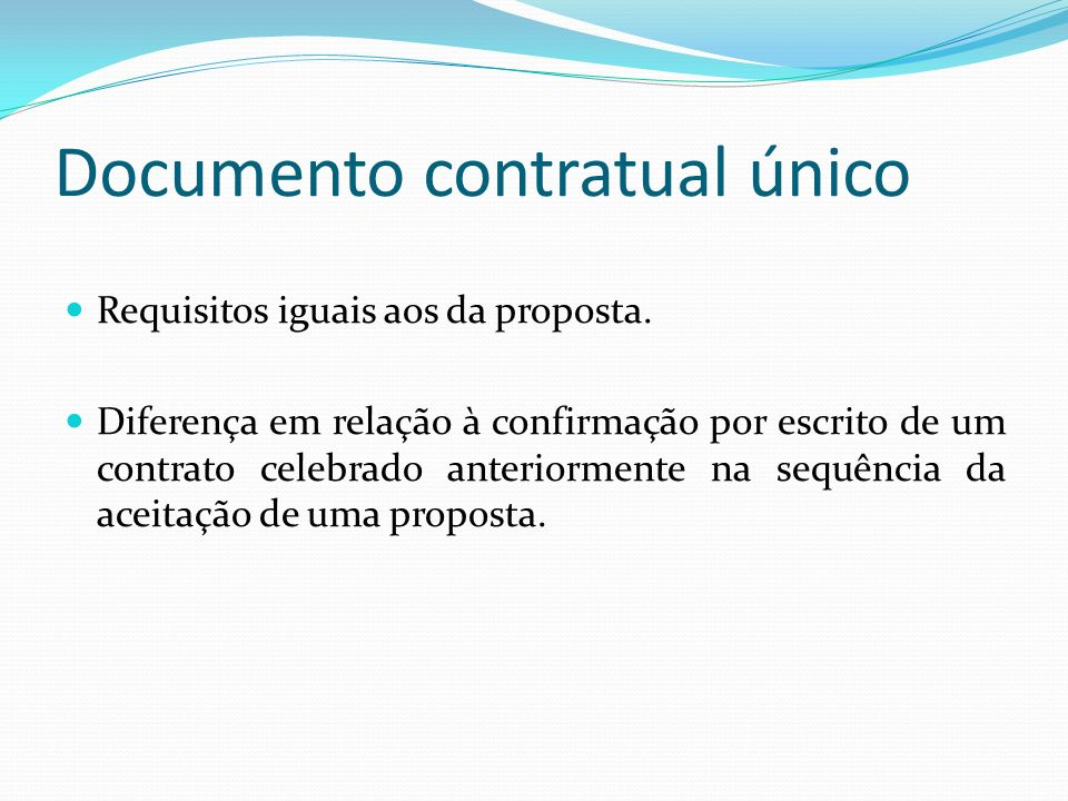 Documento contratual único