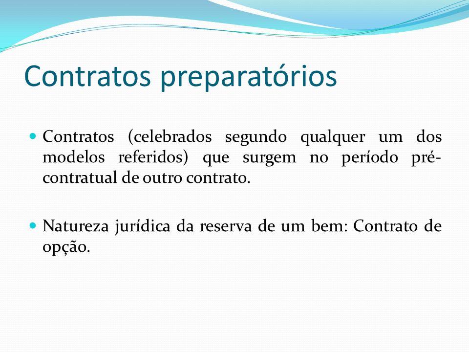 Contratos preparatórios