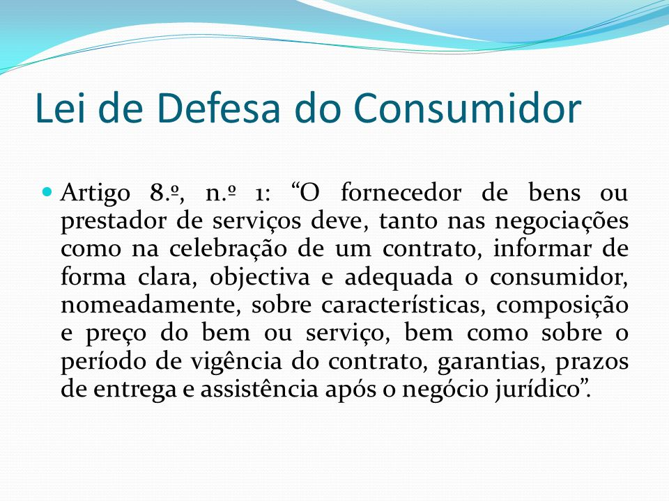 Lei de Defesa do Consumidor