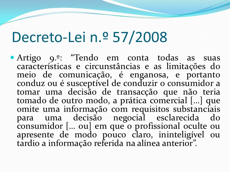 Decreto-Lei n.º 57/2008