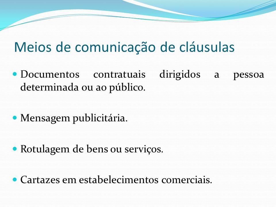 Meios de comunicação de cláusulas