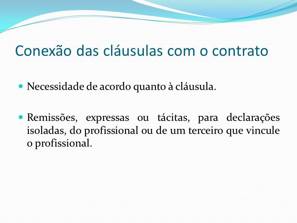 Conexão das cláusulas com o contrato
