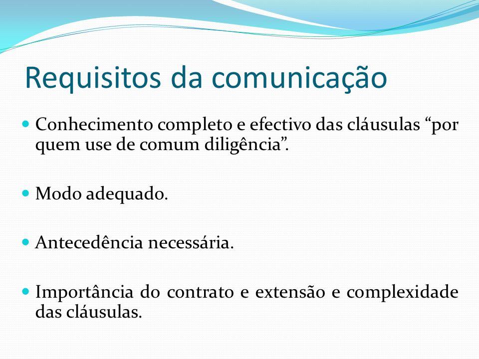 Requisitos da comunicação