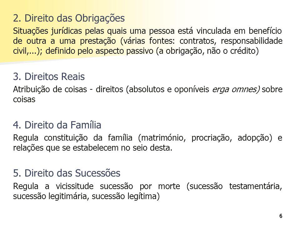 2. Direito das Obrigações