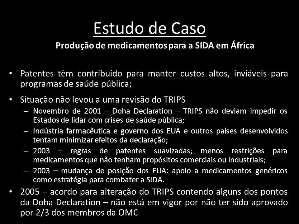 Produção de medicamentos para a SIDA em África