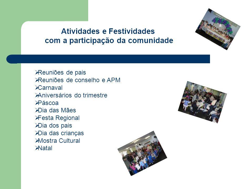 Atividades e Festividades com a participação da comunidade