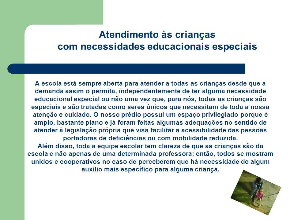 Atendimento às crianças com necessidades educacionais especiais