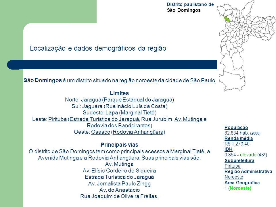Localização e dados demográficos da região