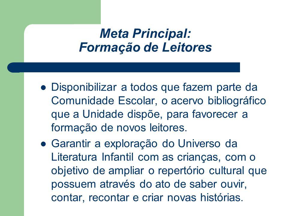 Meta Principal: Formação de Leitores