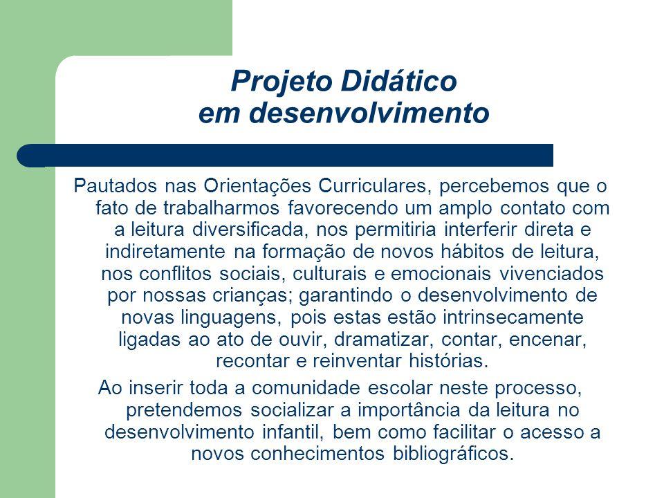 Projeto Didático em desenvolvimento