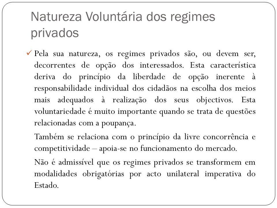 Natureza Voluntária dos regimes privados