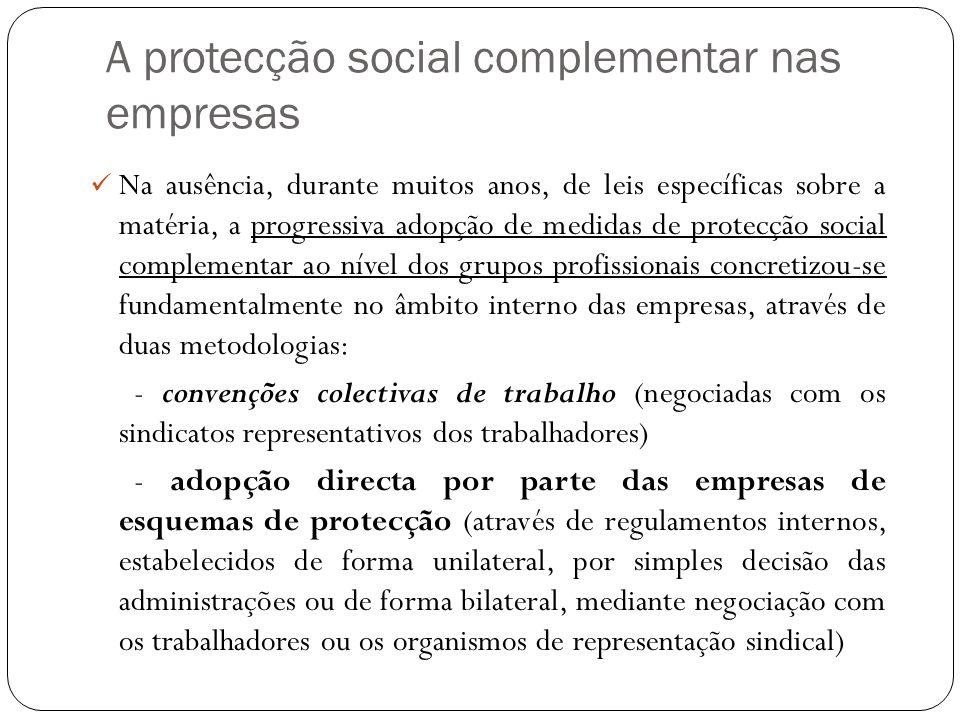 A protecção social complementar nas empresas