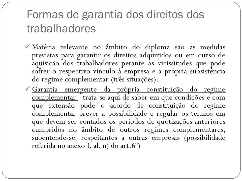 Formas de garantia dos direitos dos trabalhadores