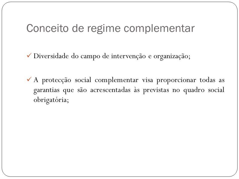 Conceito de regime complementar