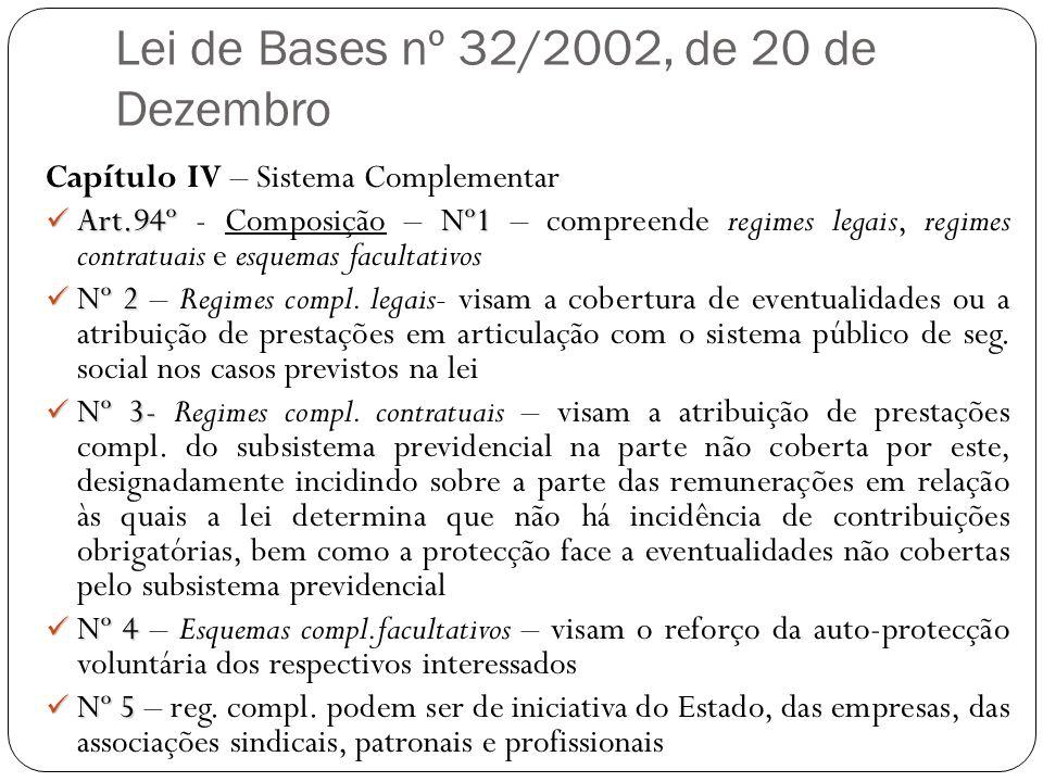 Lei de Bases nº 32/2002, de 20 de Dezembro