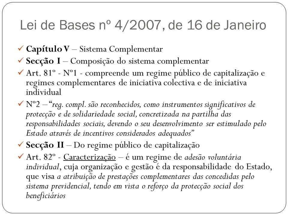 Lei de Bases nº 4/2007, de 16 de Janeiro