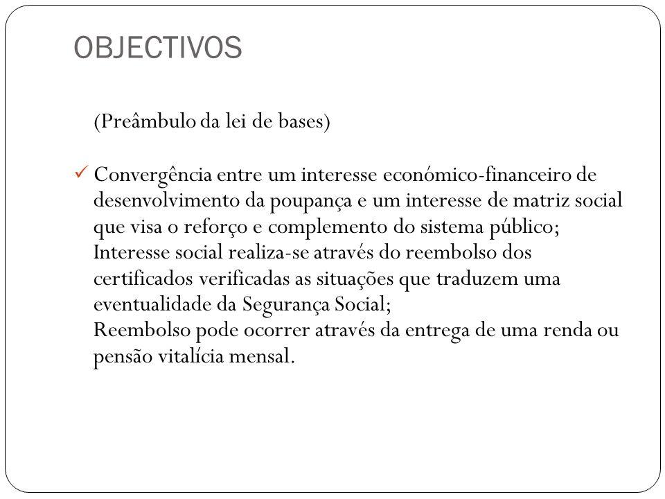 OBJECTIVOS (Preâmbulo da lei de bases)