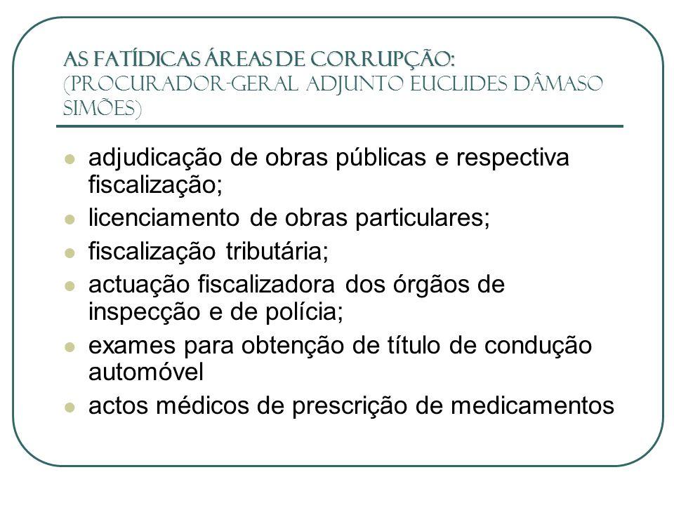 adjudicação de obras públicas e respectiva fiscalização;
