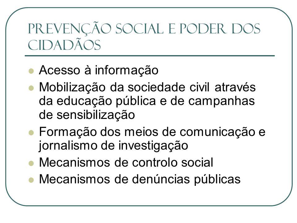 Prevenção Social e Poder dos Cidadãos