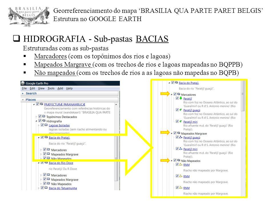HIDROGRAFIA - Sub-pastas BACIAS