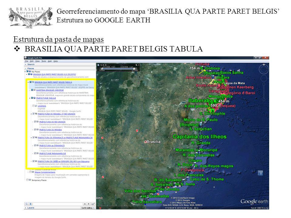 Estrutura da pasta de mapas BRASILIA QUA PARTE PARET BELGIS TABULA