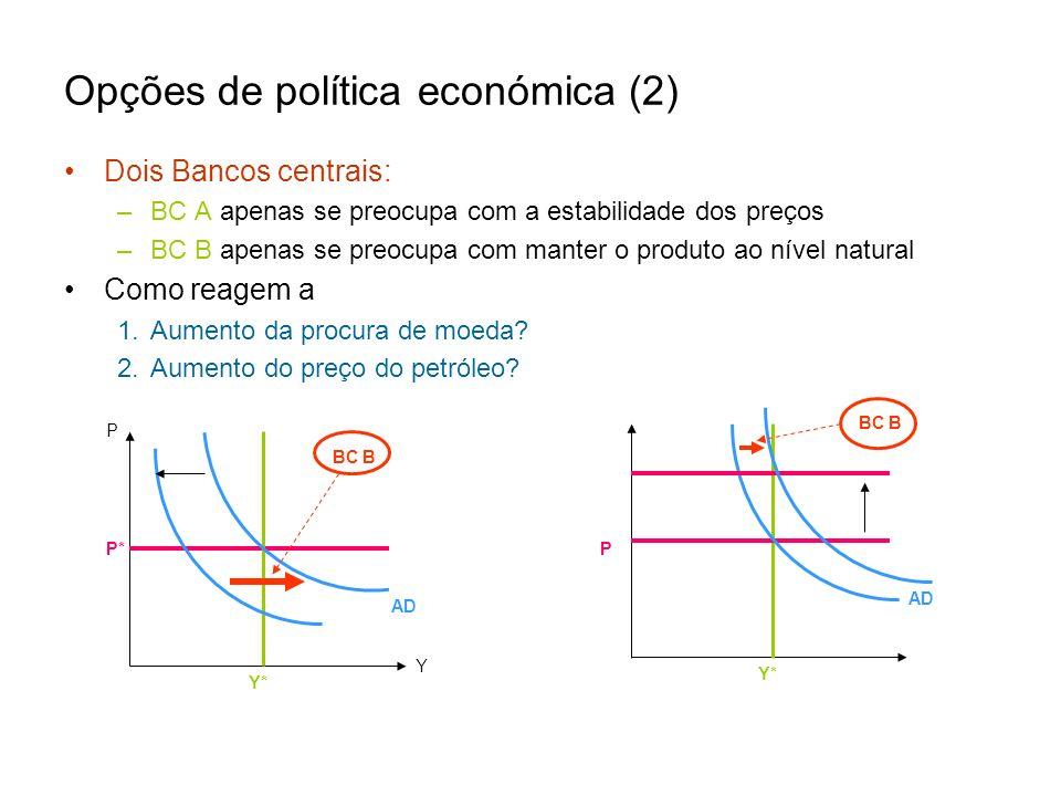 Opções de política económica (2)