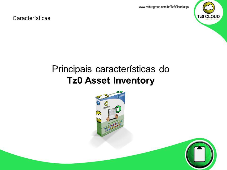 Principais características do Tz0 Asset Inventory