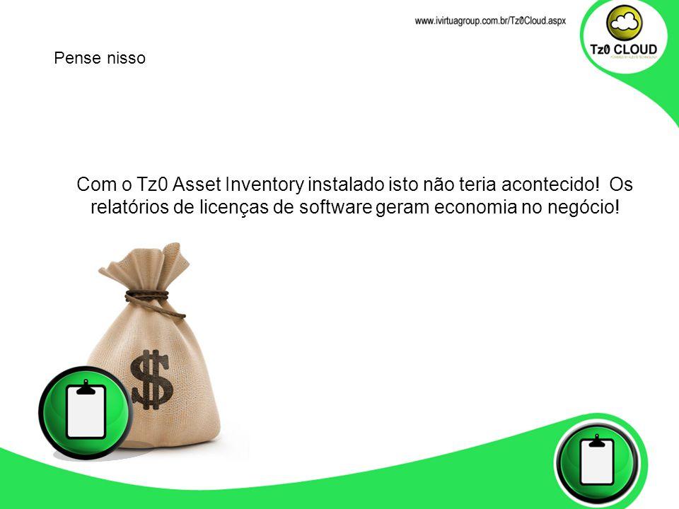 Pense nisso Com o Tz0 Asset Inventory instalado isto não teria acontecido.