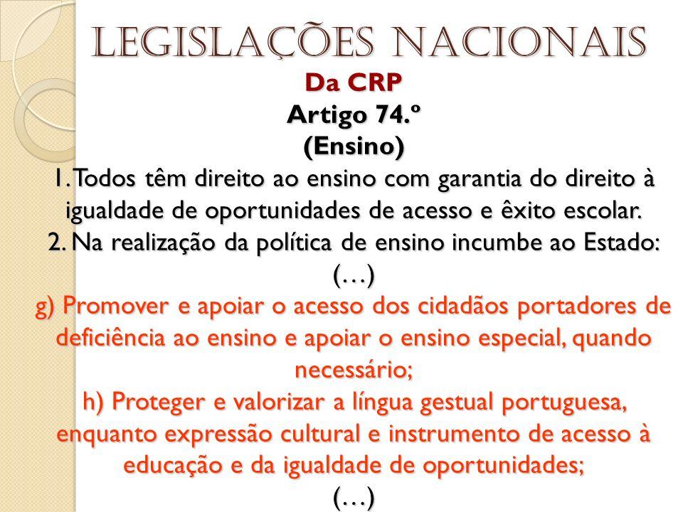 Legislações nacionais