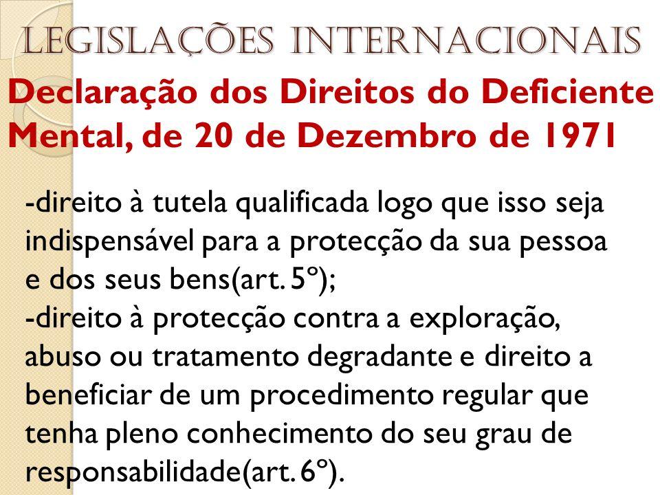 Legislações internacionais