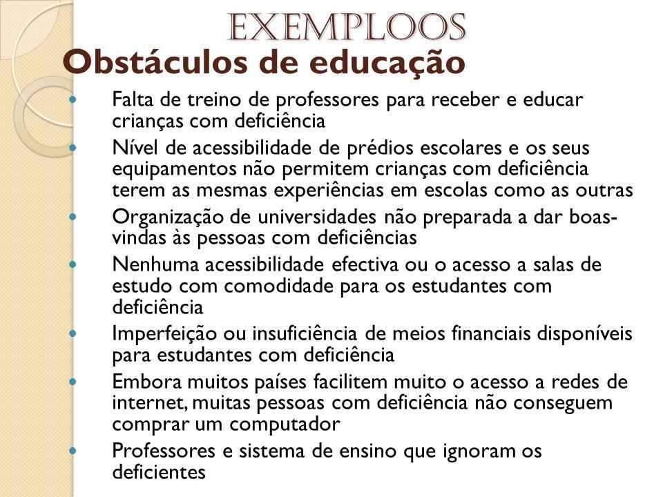 Obstáculos de educação