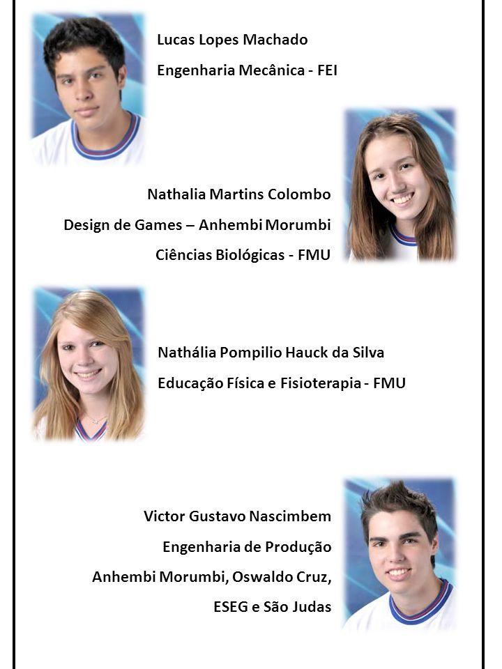 Lucas Lopes Machado Engenharia Mecânica - FEI. Nathalia Martins Colombo. Design de Games – Anhembi Morumbi.