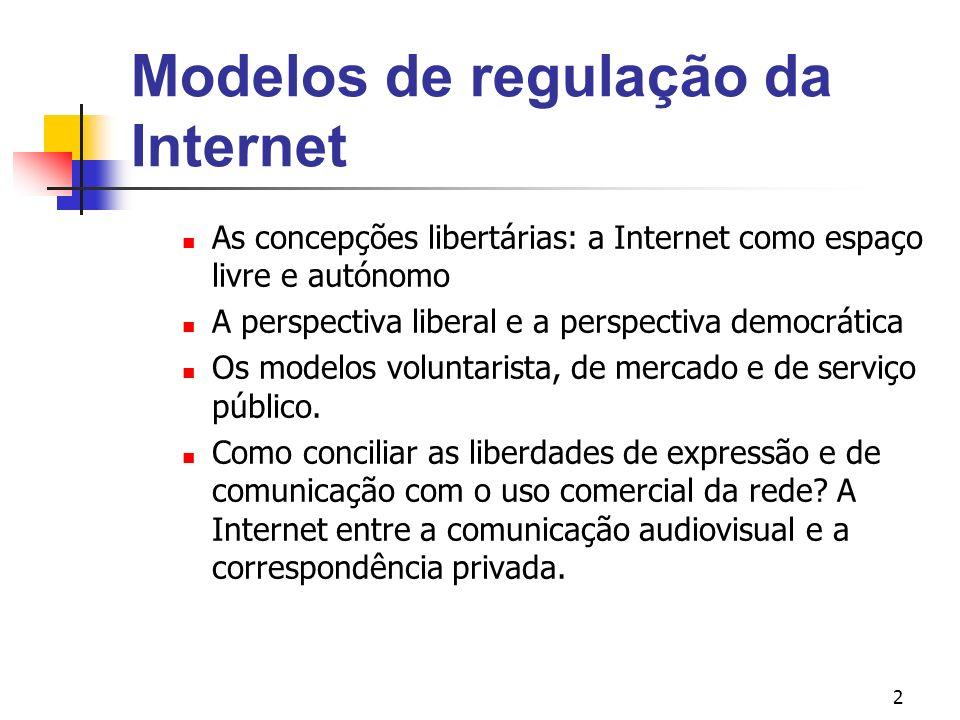 Modelos de regulação da Internet