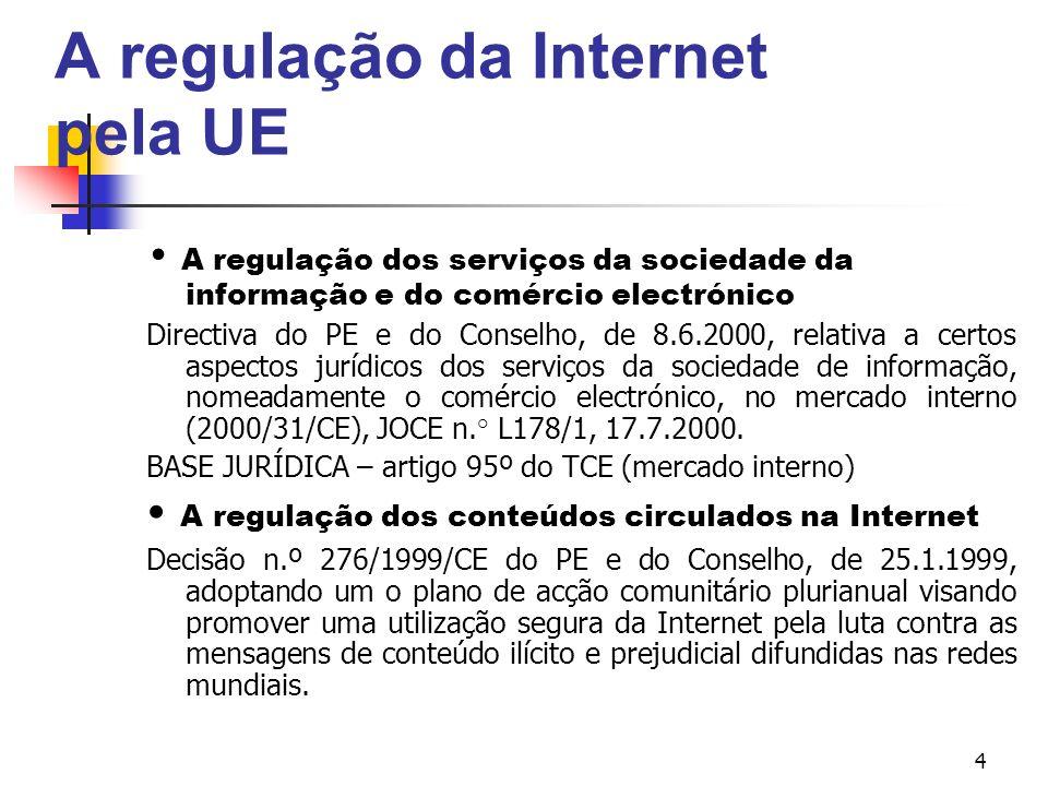 A regulação da Internet pela UE